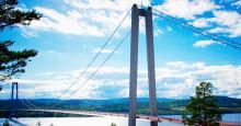 Svevia målar om Högakustenbron