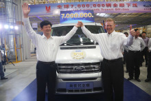 FORD FEJRER TRANSIT NUMMER 7 MILLION