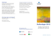 Kulturdygn på Akademiska 17 april