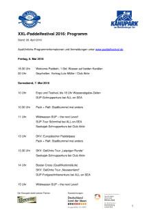 Programm Paddelfestival