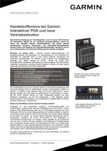 Handelsoffensive bei Garmin: Interaktiver POS und neue Vertriebsstruktur