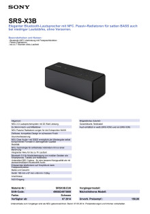 Datenblatt_SRS-X3B von Sony
