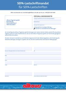 Formular SEPA-Lastschriftmandat (Pressebuchungen)