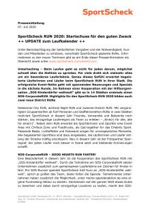 SportScheck RUN 2020 - UPDATE 07. Juli 2020