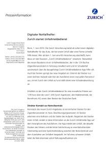 Digitaler Notfallhelfer: Zurich startet Unfallmeldedienst