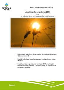 Rapport om konsekvenser av torkan 2018