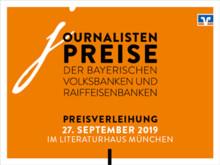 Verleihung Journalistenpreise der bayerischen Volksbanken und Raiffeisenbanken