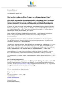 Hur kan innovationsmiljöer fungera som integrationsmiljöer?