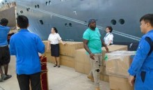 Fred. Olsen Cruise Lines aids Caribbean hurricane relief effort with donation of new crew uniforms worth over £30,000