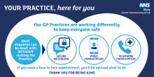 Patients thanked for their patience as GP practices continue to work differently