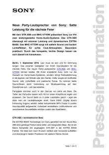 Neue Party-Lautsprecher von Sony: Satte Leistung für die nächste Feier