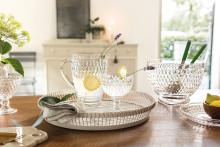 Für jeden Tag und für besondere Anlässe – Glasserie Boston: Neue Artikel mit funkelndem Diamantdekor