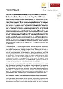 Internationaler Preis für wegweisende Vernetzung von Hörimplantat und Hörgerät