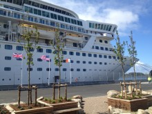 Fred. Olsen Cruise Lines' Balmoral makes maiden call  at Haugesund, Norway