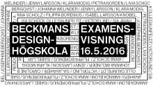 Beckmans examensvisning 2016