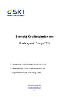 Svenskt Kvalitetsindex om kundklagomål