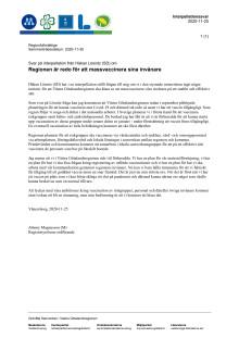 Svar på interpellation från Håkan Lösnitz (SD) om Regionen är redo för att massvaccinera sina invånare