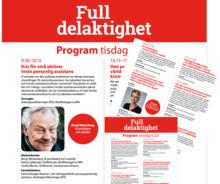 Bred uppslutning och stort engagemang för Full delaktighet - ny mötesplats i Almedalen