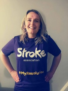 Local stroke survivor joins the resolution for the Stroke Association