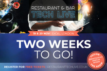 Restaurant & Bar Tech Live - TWO WEEKS TO GO