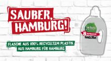 Hamburgs Wertstoff Innovative: Erste Waschmittelflasche aus 100% Hamburger Rezyklat