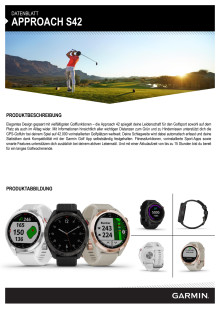 Datenblatt Garmin Approach S42
