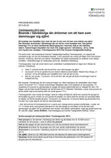 Trendrapporten 2013 visar: Boende i Gävleborgs län drömmer om ett hem som dammsuger sig självt