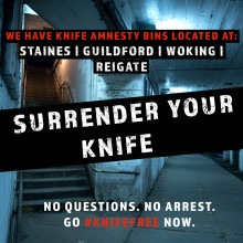 Surrey joins national campaign against knife crime