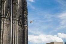 La ville de Cologne vue du ciel avec l'Action Cam Mini de Sony