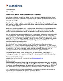 BorderShop lægger navn til Nykøbing FC Pinsecup