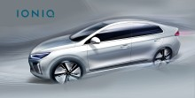 Nye skisser av IONIQ elektrisk bil