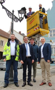 200 000. LED-Straßenleuchte geht ans Netz