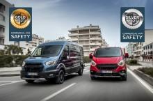 Ford Transit i Transit Custom zazářily v historicky prvním hodnocení Euro NCAP, zaměřeném na systémy aktivní bezpečnosti v užitkových automobilech