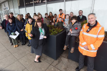 Local community brightens up Milton Keynes station entrance
