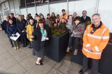 Local community brightens up Milton Keynes station entrance