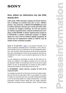 Communication de presse_EISA Awards 2014_F-CH_140815