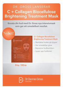 Dr. Dennis Gross C + Collagen Biocelloluse Brightening Treatment Peel 2019 A4 Skylt