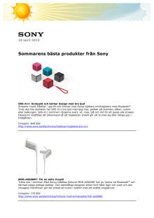 Sommarens bästa produkter från Sony
