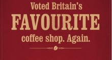 Costa named the Nation's Favourite Coffee Shop for its fourth consecutive year