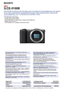 Datenblatt ILCE-5100B von Sony
