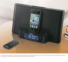 Für mehr Stil und Musik auf kleinstem Raum: Die schlanke Docking Station ICF-DS15IP mit Uhrenradio für iPod/ iPhone von Sony