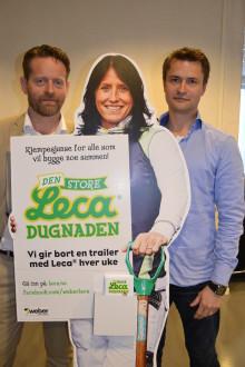 Med Marit Bjørgen som frontfigur: Leca gir bort lastebillass til dugnadsprosjekter