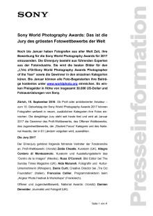 Sony World Photography Awards: Das ist die Jury des grössten Fotowettbewerbs der Welt