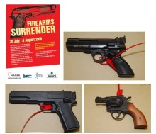 Three firearms handed in to police stations within hours after launch of firearms surrender