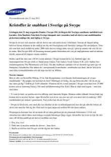 Kristoffer är snabbast i Sverige på Swype