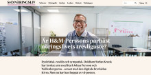 """SvD """"Är H&M-Perssons parhäst näringslivets trevligaste?"""""""