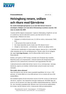 Helsingborg renare och rikare med fjärrvärme