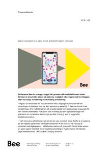 Bee lanserar ny app med elbilsföraren i fokus