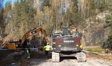 Svevia byter rörbro vid Valnäs