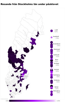 Svenskarna stannar hemma under påsklovet